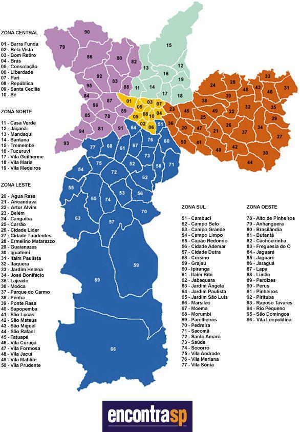 mapa da cidade de são paulo desentupidora bairro